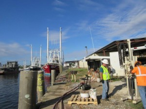 Geoprobe Direct Push Soil and Groundwater Sampling outside Mobile, Alabama