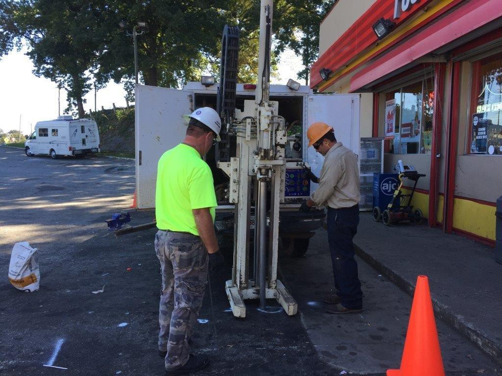 Geoprobe Soil and Groundwater sampling at a gas station in Atlanta, Georgia