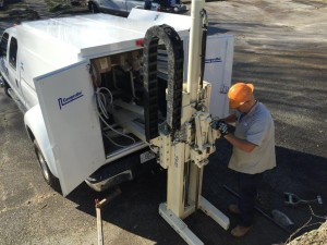 Installing a Shallow Soil Gas Sampling Point with a Geoprobe 5410 Rig in Atlanta, Georgia