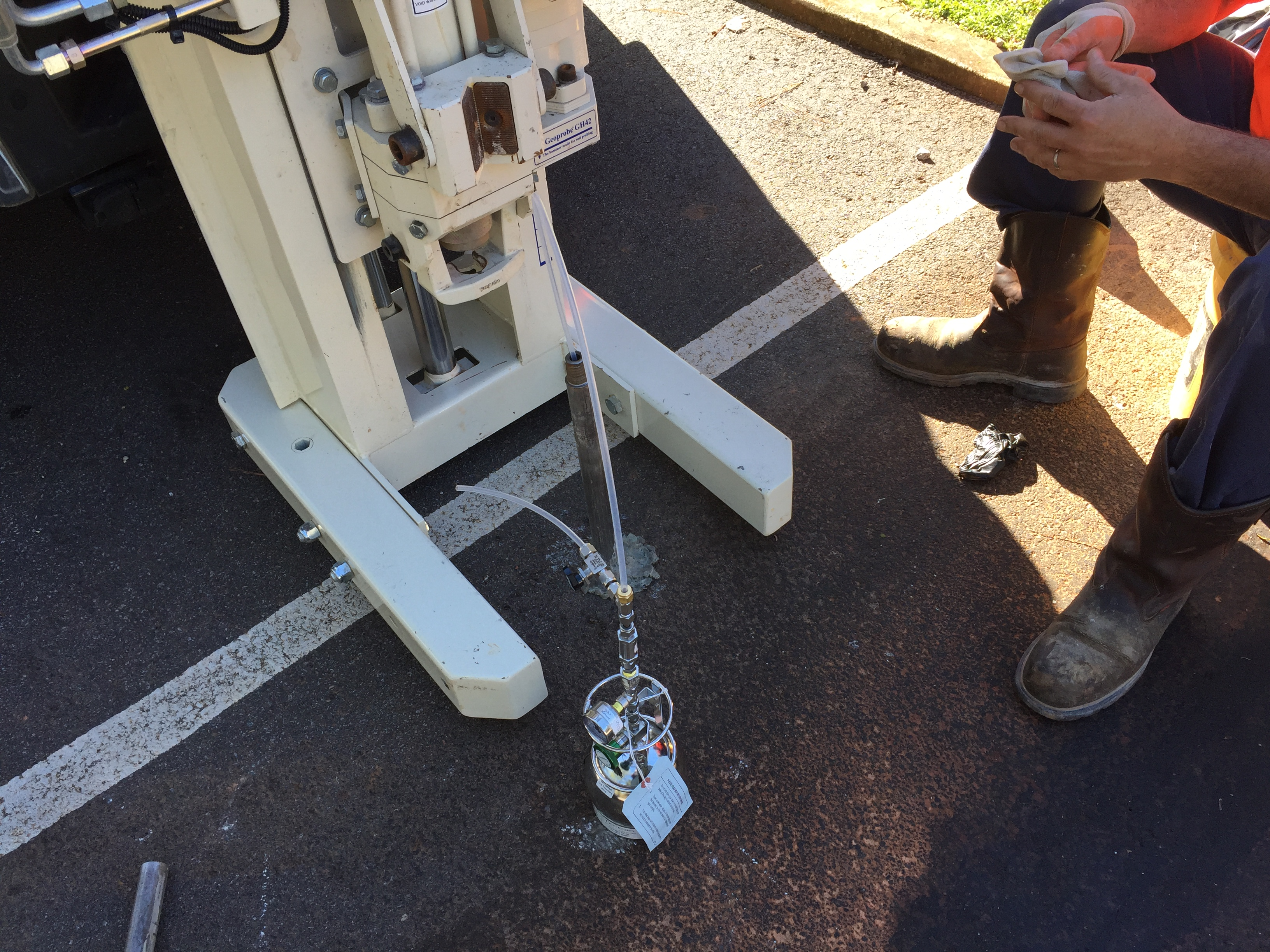 Atlanta Geoprobe Soil Gas Sampling